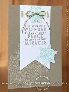 This sweet Christmas card is so pretty and it's easy to mass-produce! Featuring the gorgeous Flurry of Wishes stamp set. www.creativestamping.co.nz | Stampin' Up! | 2015 Holiday Catalogue