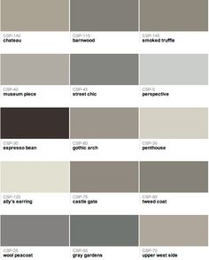Benjamin Moore - Gray paint colors