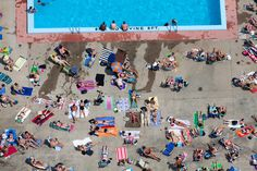 Poolside tanning, Cambridge, Massachusetts, USA, 2012. | 22 Stunning Aerial Photos That Reveal A Beauty From Above