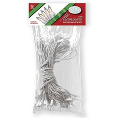 National Tree Company 50 Bulb Light String Set, Clear with White Wire - 37 feet. KMart, $9