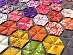 99 Hexies – My Alison Glass Mini Quilt | Ants to Sugar – Quilter ...