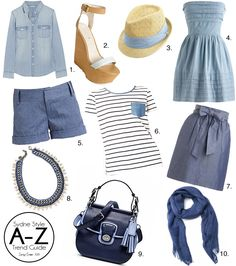 Sydne Style - Chambray Trend blue Spring Summer 2013