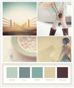 #color #palette #teal by Imelda - Love the tan with white trim and highlighted with teal - :)