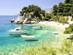 Photo about Beach in Brela to Makarska Riviera, Dalmatia, Croatia. Makarska Croatia, Dalmatia Croatia, Patong Beach, Visit Croatia, Croatia Travel, Resorts, All Inclusive Urlaub, Brazil Beaches, Images Of Summer