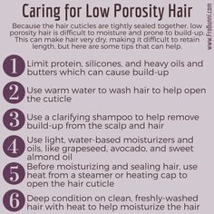 How to care for low-porosity natural hair