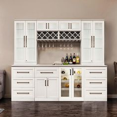 NewAge Products Home Bar 9 Piece Set, White