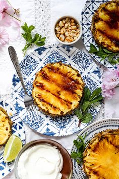 Grilled Pineapple with Coconut Whipped Cream   www.floatingkitchen.net