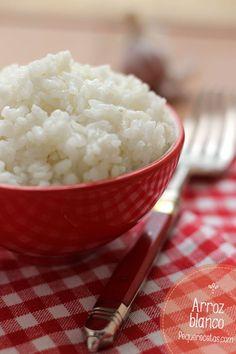 Cómo hacer arroz blanco perfecto paso a paso