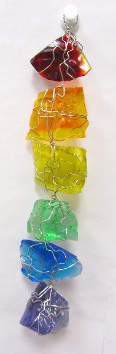 rainbow glass sun catcher