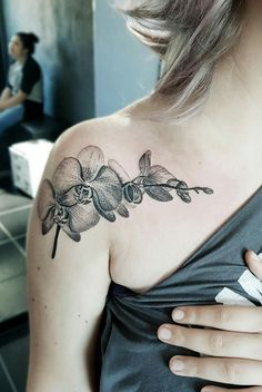 Best Tattoo Trends - Orchid Tattoo - The Intense Desire , Tattoo Diskrete Tattoo, Tattoo Son, Tattoo Hals, Lace Tattoo, Cover Tattoo, Piercing Tattoo, Trendy Tattoos, Sexy Tattoos, Unique Tattoos