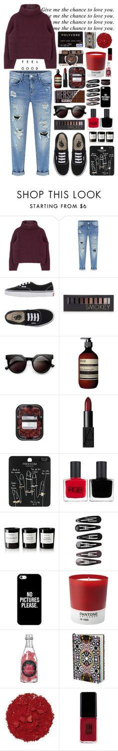 """""""only fools fall for you"""" by brooksse ❤ liked on Polyvore featuring Vans, Forever 21, Retrò, Aesop, NARS Cosmetics, Topshop, RGB, Byredo, Clips and Casetify"""