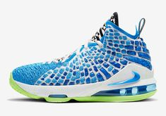 Blue Sneakers, Casual Sneakers, Leather Sneakers, Sneakers Nike, Lebron 17, Nike Lebron, Lebron James, Reebok Princess, Photo Blue