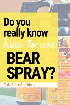 Take the time to learn how to properly carry and use your bear spray when hiking in bear country. Take responsibility of your safety. Family Camping, Tent Camping, Camping Hacks, Camping Storage, Camping Ideas, Campsite, Glamping, Backpacking Tips, Hiking Tips
