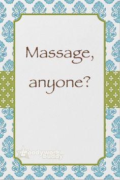 #massage anyone ?