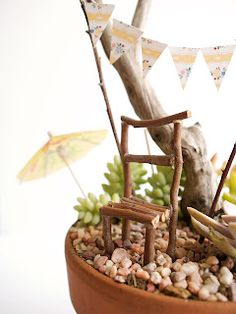 Fairy Furniture - A Stick Chair for your Fairy Garden - The Magic Onions