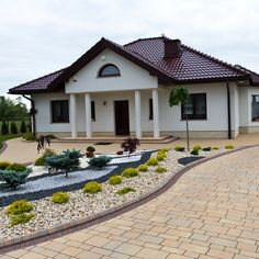 One Storey House, Paving Design, Facade House, Modern Buildings, Model Homes, Backyard Landscaping, Design Case, My Dream Home, Architecture Design