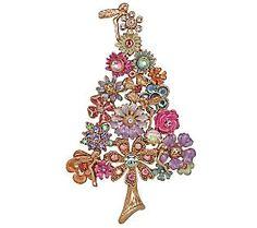 Kirks Folly Fantasia Fairy Flower Christmas Tree Pin/Enhancer - QVC.com