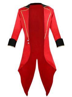 ee304f2b8b Burlesque Men s Red Ringmaster Tailcoat Jacket Big Top