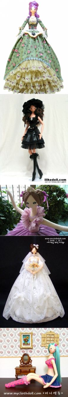 Корейские куклы тряпиенсы.Много выкроек