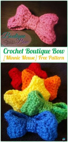 CrochetBoutique Bow[MinnieMouse]FreePattern - Crochet Bow Free Patterns