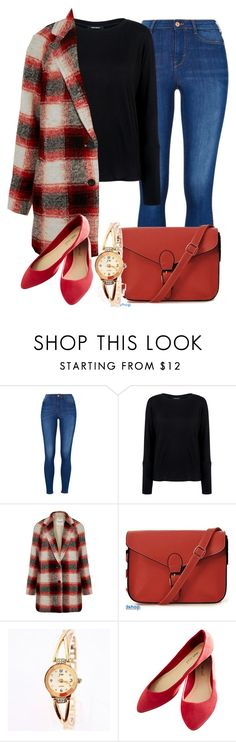 """Fall Red Fashion 2015"" by myfriendshop ❤ liked on Polyvore featuring Pink Tartan, Madewell and Wet Seal"