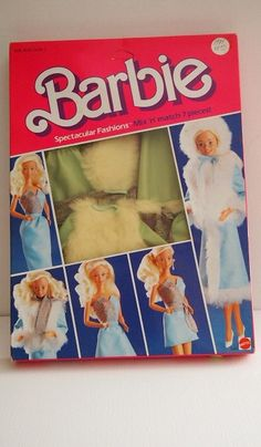 Vintage Barbie Spectacular Fashions Mix n Match 7 Pieces!    Contents Include:  Jacket, Hoot, Mini Dress, belt, Wrap Skirt, Long Skirt, Shoes    Look