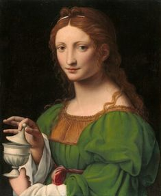 This soft, luminous depiction of St. Mary Magdalene is by the Italian Renaissance artist Bernardino Luini (ca. The image comes as a fine art print under premium clear glass in an attractive gold solid wood frame. Renaissance Portraits, Renaissance Paintings, National Gallery Of Art, Italian Renaissance, Renaissance Art, Gospel Of Mary, Maria Magdalena, Noli Me Tangere, Italian Painters