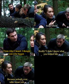 Not really about the outfits, but a funny scene. Nikita! Love this show so much