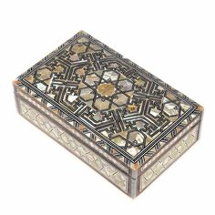 CLASSIC Egyptian Mother of Pearl Mosaic Inlaid Wooden Jewelry Box by NileCart #NileCart