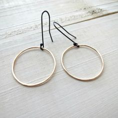 Small gold hoops, thin gold hoops, small hoops, gift for her, gold, dainty earrings by BLUEskyBLACKbird on Etsy https://www.etsy.com/listing/172201294/small-gold-hoops-thin-gold-hoops-small