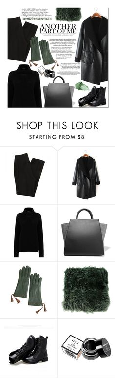 """#winterstaples"" by zoey-heart ❤ liked on Polyvore featuring Warehouse, ZAC Zac Posen, Overland Sheepskin Co., Ann Demeulemeester, Sunsteps, Kershaw, NYX, Urban Decay and winterstaples"