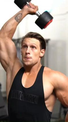 Gym Workout Chart, Gym Workout Videos, Gym Workout For Beginners, Gym Workouts For Men, Home Gym Exercises, Bicep And Tricep Workout, Dumbbell Workout, Workout Splits, Shoulder Workout