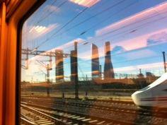 Entrando en Madrid. Vista desde la ventanilla del tren.