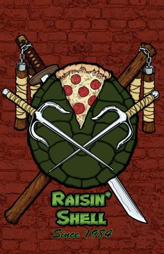 Turtles Raisn' Shell Poster by DanCapitumini on Etsy, $15.00