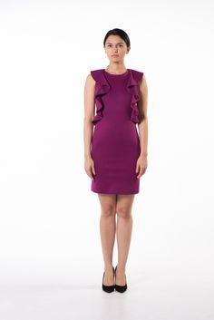 Forever fuchsia ruffled dress