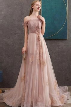 Pink tulle lace long prom dress pink lace evening dress The Dress Bridal Pink Tulle, Tulle Lace, Pink Lace, Blush Pink, Prom Dresses Long Pink, Prom Party Dresses, Formal Dresses, Grad Dresses, Prom Gowns