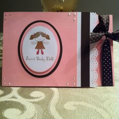 Sweet baby doll card