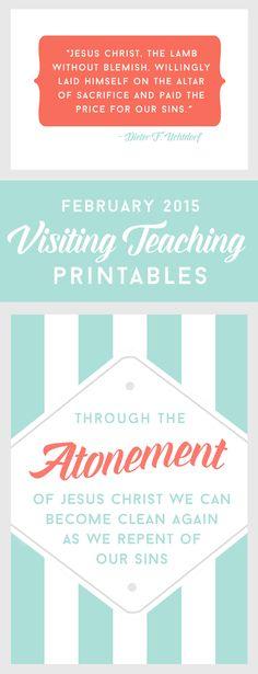 February 2015 Visiting Teaching printables.