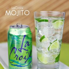 Skinny Mojito using Lime LaCroix which is 0 calorie sparkling water with no artificial sweeteners. Yum!