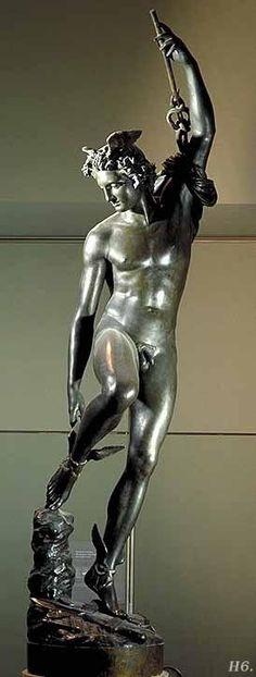 Francois Rude, Mercurio atándose sus sandalias aladas. 1834.