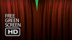 Free Green Screen - Close and Open Curtain (Transition) Free Green Screen, New Background Images, Curtains, Blinds, Draping, Picture Window Treatments, Window Treatments