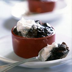 Chocolate Chunk Bread Puddings | CookingLight.com