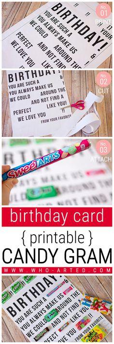 Candy Gram Birthday Card 2 00 - Pinterest 02