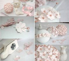 homemade-christmas-tree-ornaments-paper-flowers-pins-foam-ball - WonderfulDIY.com