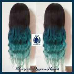 This Custome Made Wig is amazing!! The colors are beautiful, turquoise to mintgreen. This is a well done ombre, one of my best!! Follow me on instagram and facebook by Royal Queen Hair! Thank you!!