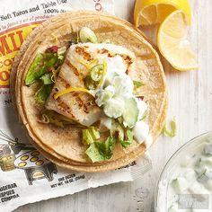 Citrus-marinated fish tacos
