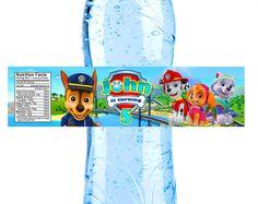 Paw Patrol Water bottle label Paw patrol party Paw patrol bottle label paw patrol label Paw patrol labels paw patrol water labels