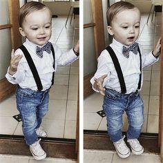 Black Suspenders & Bow Tie- beau hudson
