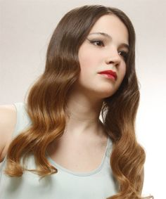 Formal Long Wavy Hairstyle. Click on the image to try on this hairstyle and view styling steps!