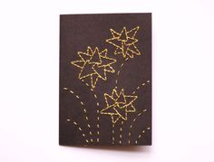 Hand Stitched Geometric Greetings Card with Envelope by CUTandTEAR